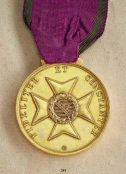 "Saxe-Altenburg House Order Medals of Merit, Type I, in Gold (stamped ""F.HELFRICHT FEC"" 1864-1871)"