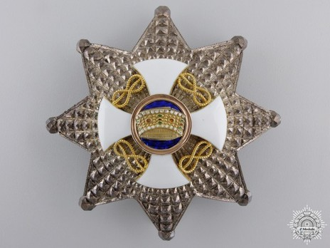 Order of the Crown of Italy, Grand Officer's Cross Breast Star Obverse