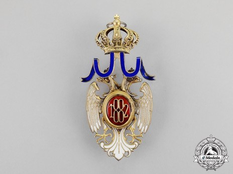 Order of the White Eagle, Type II, Civil Division, I Class Reverse