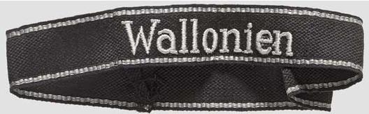 Waffen-SS Wallonien Cuff Title Obverse