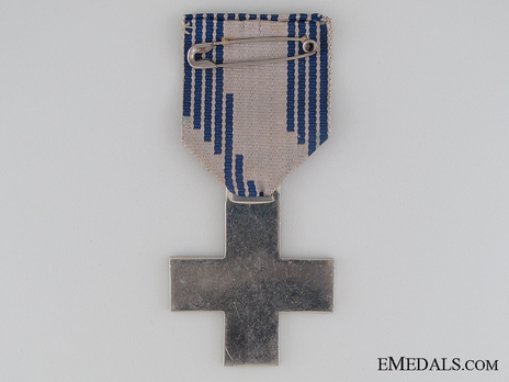 Cross of Merit of the Italian Fascist Youth, for Young Men (in silvered bronze) Reverse