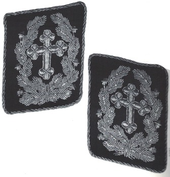 Kriegsmarine Chaplains Marinepfarrer, Marineoberpfarrer & Marinekriegspfarrer Collar Tabs (2nd pattern) Obverse