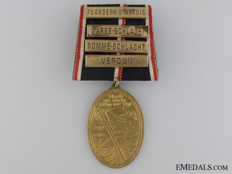 War Commemorative Medal of the Kyffhäuser Union, 1914-1918 (with clasps) Obverse