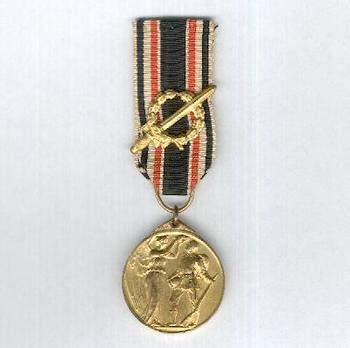 German Honourary Commemorative Medal of the World War (with laurel wreath) Obverse
