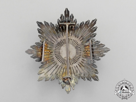 3rd Class Breast Star (white distinction) (with Fleur de Lys and Royal Crown) Reverse