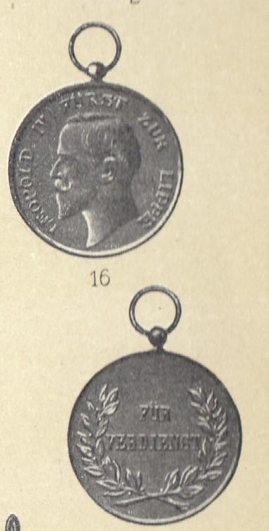Lippe detmold%2c+leopold+order%2c+type+i%2c+silver+medal