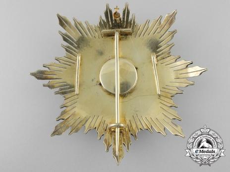 3rd Class Breast Star (white distinction) (1900) Reverse