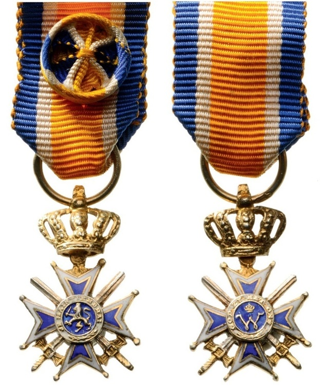 Miniature officer military division obverse and reverse