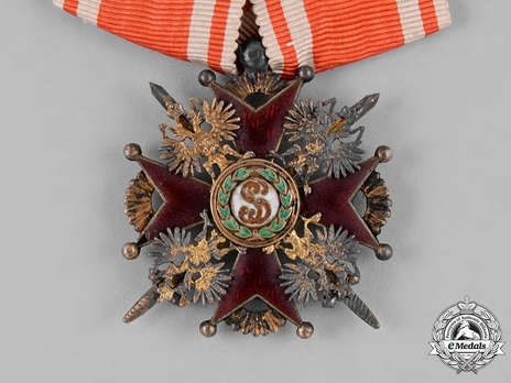 Order of Saint Stanislaus, Type II, Military Division, III Class Badge (provisional government, with swords)