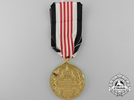 Colonial Medal (for soldiers of European descent, in bronze gilt) Reverse
