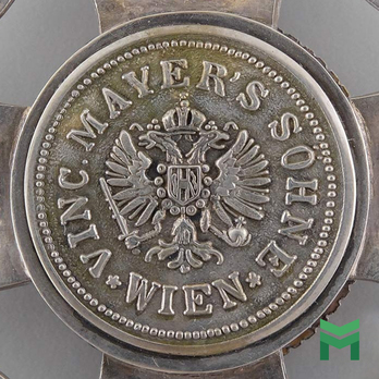Vinc. Mayer's Sohne Cartouche on a Military Merit Order of Maria Theresa, Grand Cross Star