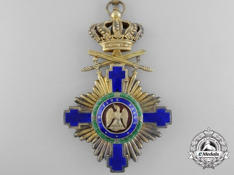 The Order of the Star of Romania, Type I, Military Division, Grand Officer's Cross Obverse