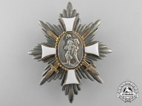 German Field Honour Badge (in silvered tombac) Obverse