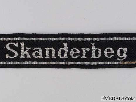 Waffen-SS Skanderbeg Cuff Title Obverse