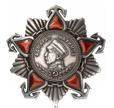 Order of Nakhimov II Class Medal Obverse