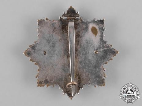 German Cross, in Gold, by C. E. Juncker (Model 1, 5 rivets) Reverse