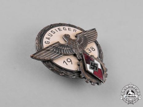 National Trade Competition Victors' Badge, Type II, in Silver (1938) Obverse