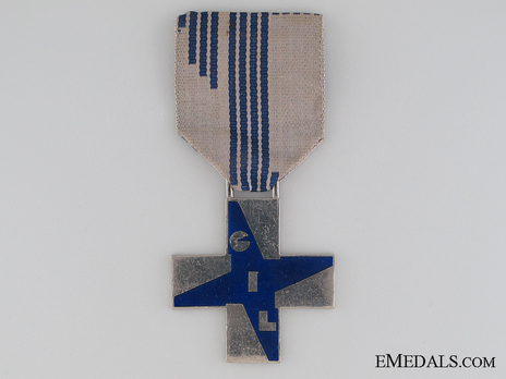 Cross of Merit of the Italian Fascist Youth, for Young Men (in silvered bronze) Obverse