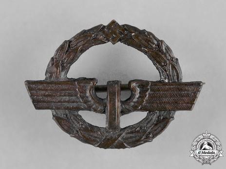 German Female Railway Staff Service Badge, in Bronze Obverse