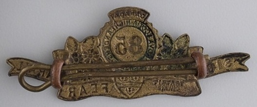 85th Infantry Battalion Other Ranks Collar Badge (Scroll) Reverse