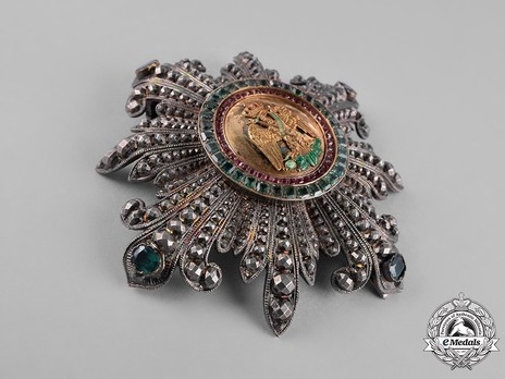 Grand Cross Breast Star by Halley Emeralds and Rubies, Obverse
