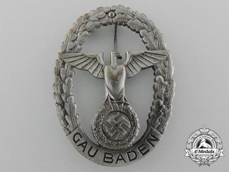 Gau Honour Badge Baden, in Silver, Large Obverse