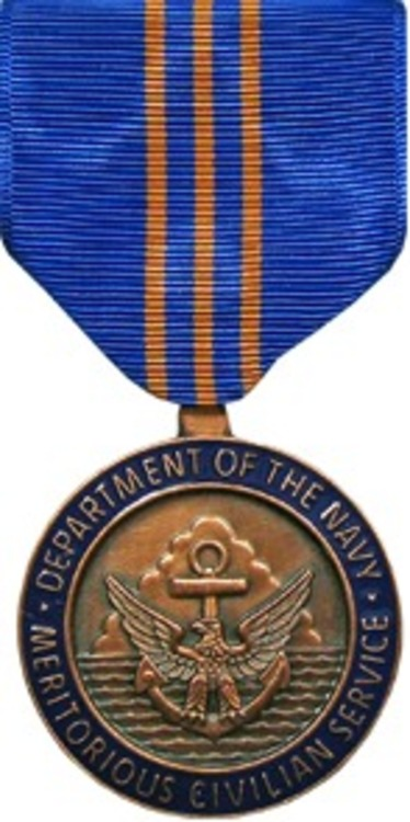 Dept of the navy meritorious civilian service medal