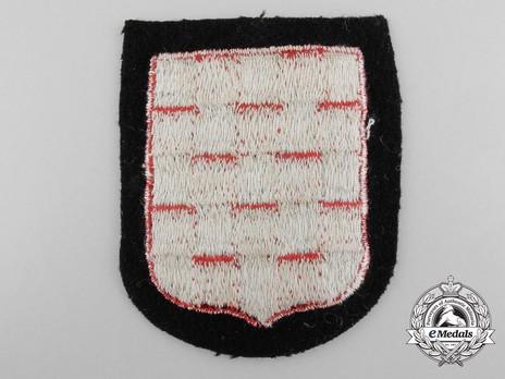 Waffen-SS Croatian Volunteer Arm Shield (1st pattern) Reverse