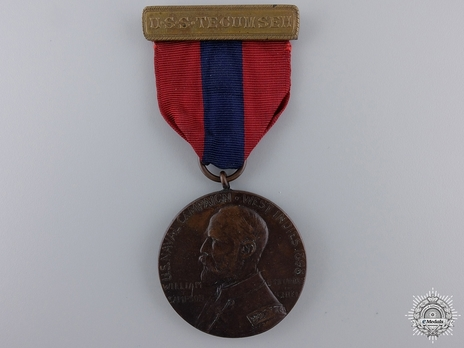 West Indies Campaign Medal (for U.S.S. Tecumseh) Obverse