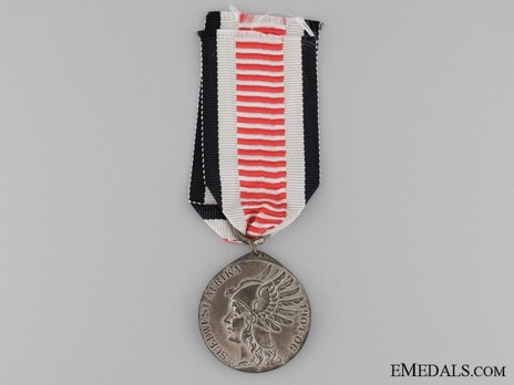 South Africa Campaign Medal, for Non-Combatants (in silvered steel) Obverse