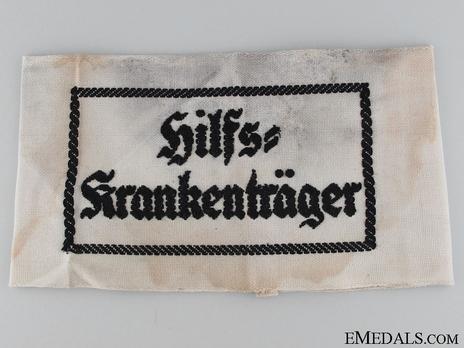 Kriegsmarine Auxiliary Stretcher Bearer Armband Obverse