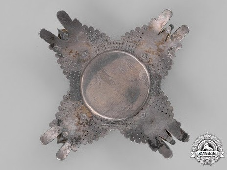 Commander Breast Star with Swords (in silver and gold) Reverse