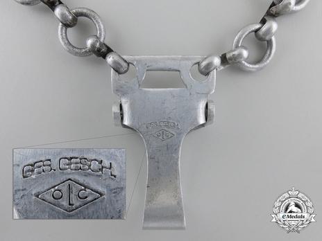 NPEA Leader Dagger with Chain Hanger Detail