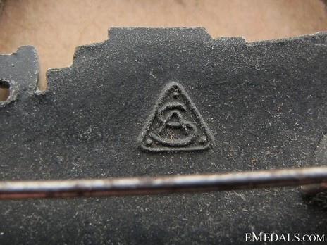 E-Boat War Badge, Type II, by Unknown Maker: AS in Triangle Detail
