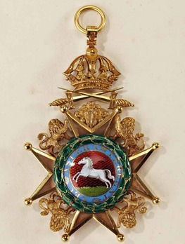 Royal Guelphic Order, Grand Cross with Swords Obverse