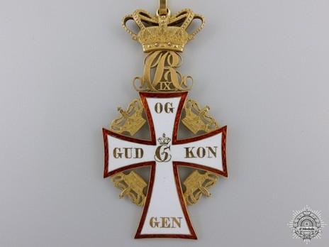Order of Dannebrog, II Class Commander (Christian IX 1861-) Obverse