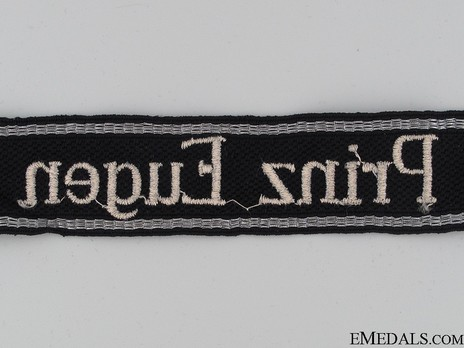 Waffen-SS Prinz Eugen NCO/EM's Cuff Title (RZM machine-embroidered version) Reverse