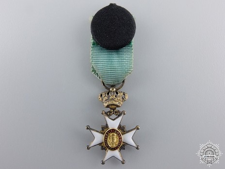 Miniature I Class Knight (with silver gilt and gold, 1860-1975) Reverse