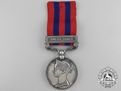 """Silver Medal (with """"BURMA 1885-7"""" clasp) Obverse"""