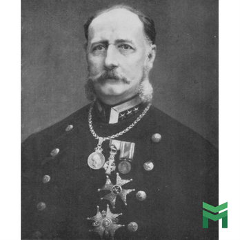 Colonel Count G.E Taube wearing the Order of St. Olav, Grand Officer Star