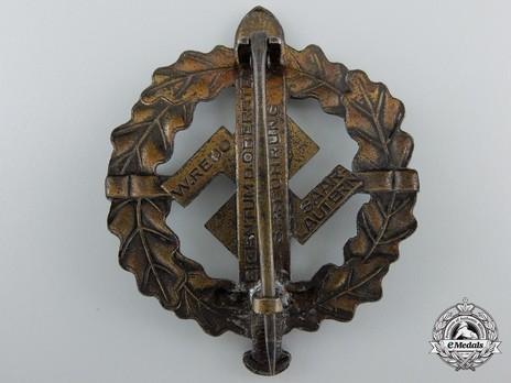SA Sports Badge, Type III, in Bronze Reverse