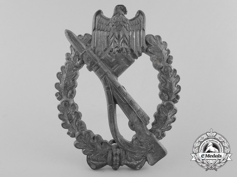 Infantry Assault Badge, by F. Linden (in silver) Obverse