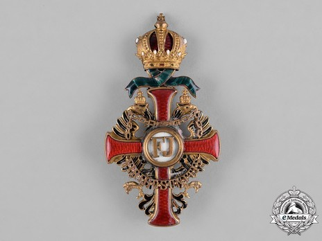 Order of Franz Joseph, Type II, Military Division, Officer (enamelled pendilia) Obverse