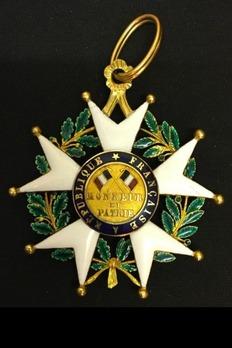 Order of the Legion of Honour, Type V, Commander Reverse