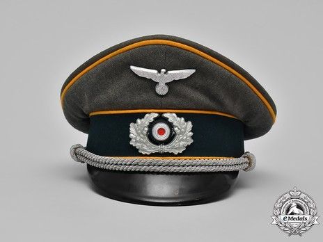 German Army Cavalry Officer's Visor Cap Front