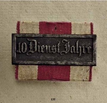 Military Long Service Bar, Type I, III Class for 10 Years