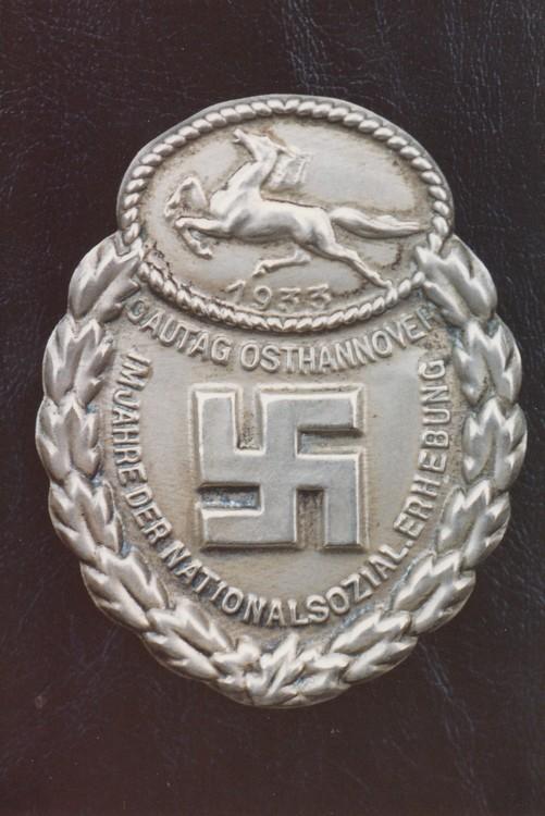 Gau+honour+badge+east+hannover%2c+in+silver