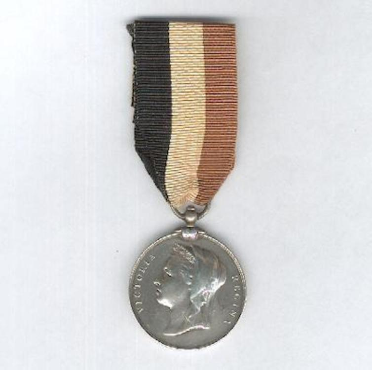 Silver medal with ring suspension stamped l.c. wyon obverse 1