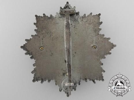 """German Cross, in Gold, by Deschler (4 rivets, """"1"""", cupal) Reverse"""