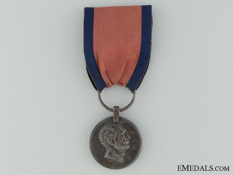 Wilhelm Long Service Medal, Type II, in Silver Obverse